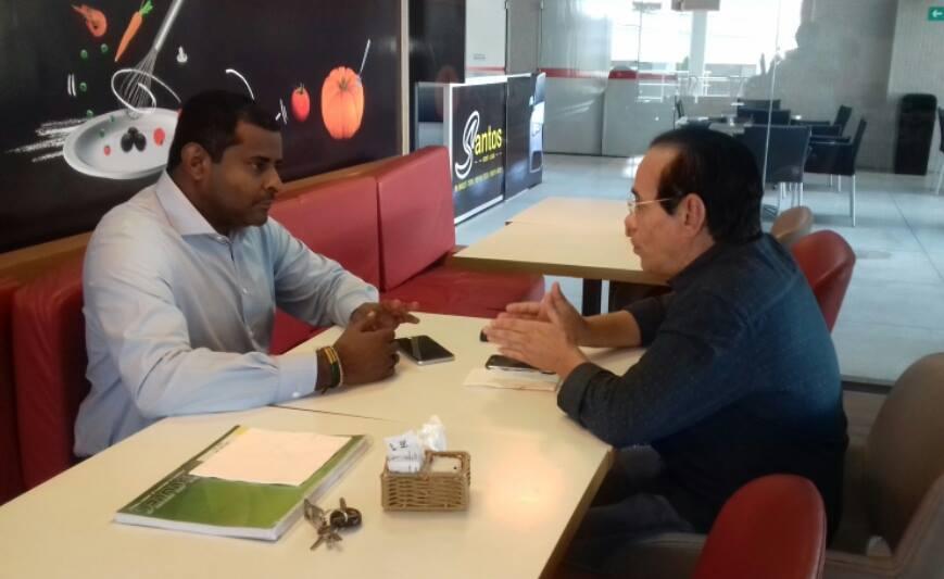 Pré-candidato a prefeito de São Luís, Fábio discute a conjuntura política com o senador Pinto Itamaraty