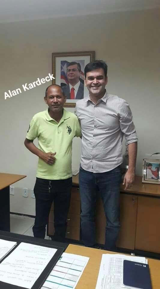 Alan Kardec ao lado do secretário de cidades Rubens Juni